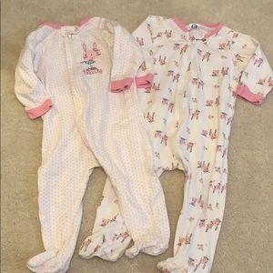 Ferber zip up bunny footie pajamas